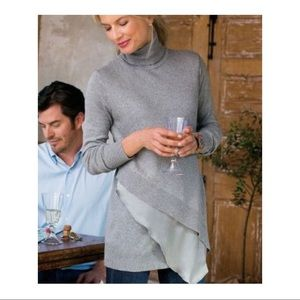 Soft surroundings asymmetrical tunic sweater layer